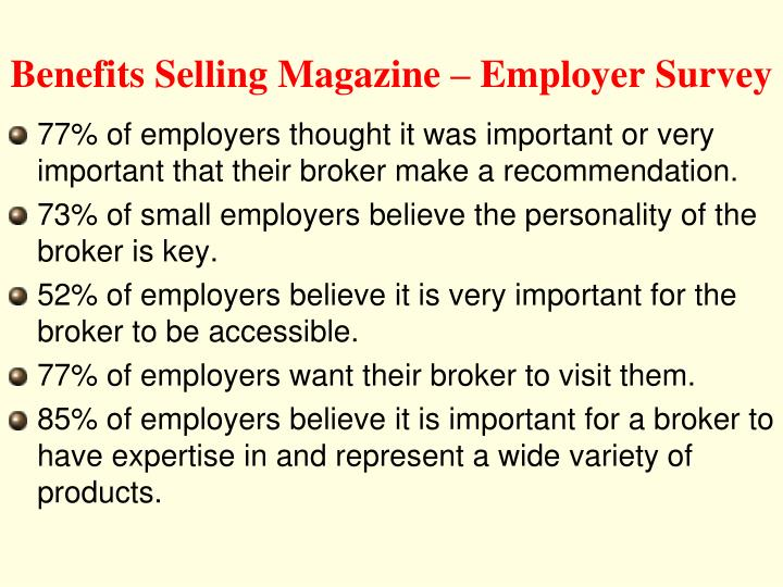 Benefits Selling Magazine – Employer Survey