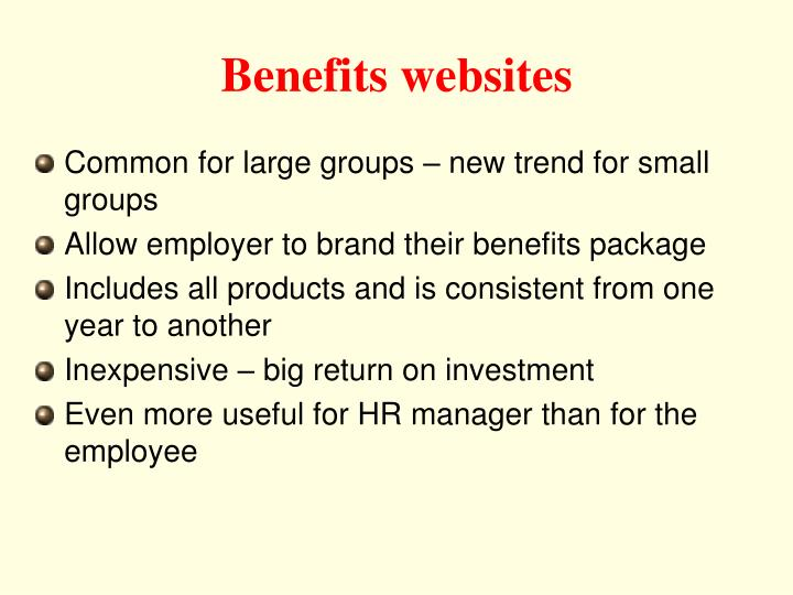 Benefits websites