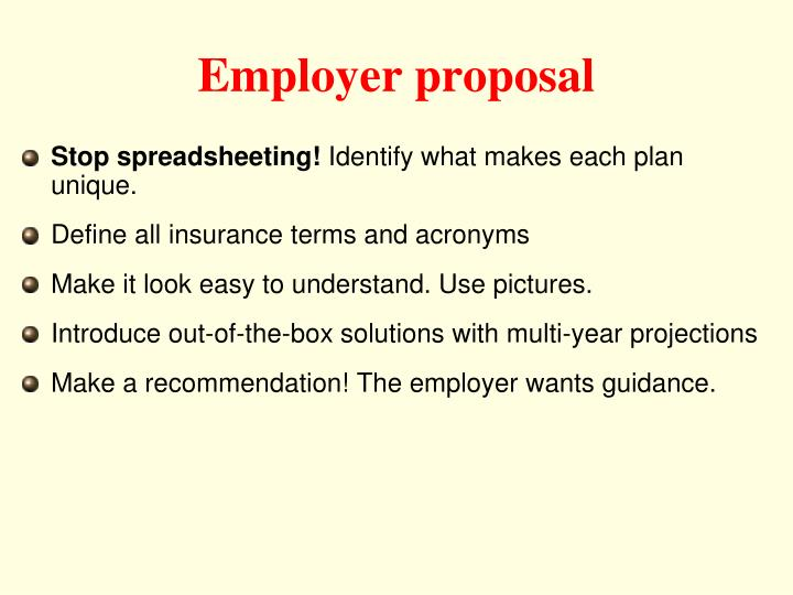 Employer proposal