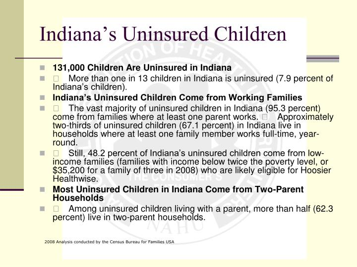 Indiana's Uninsured Children