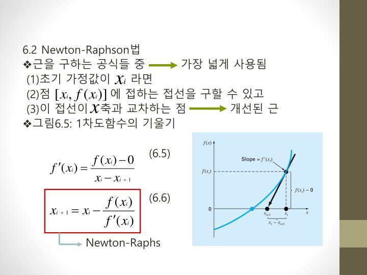 6.2 Newton-Raphson