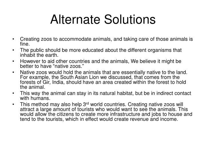 Alternate Solutions