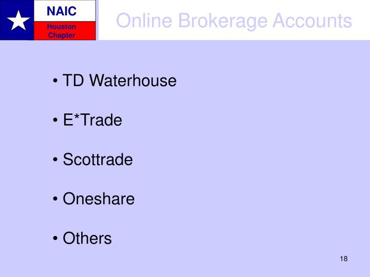 Online Brokerage Accounts