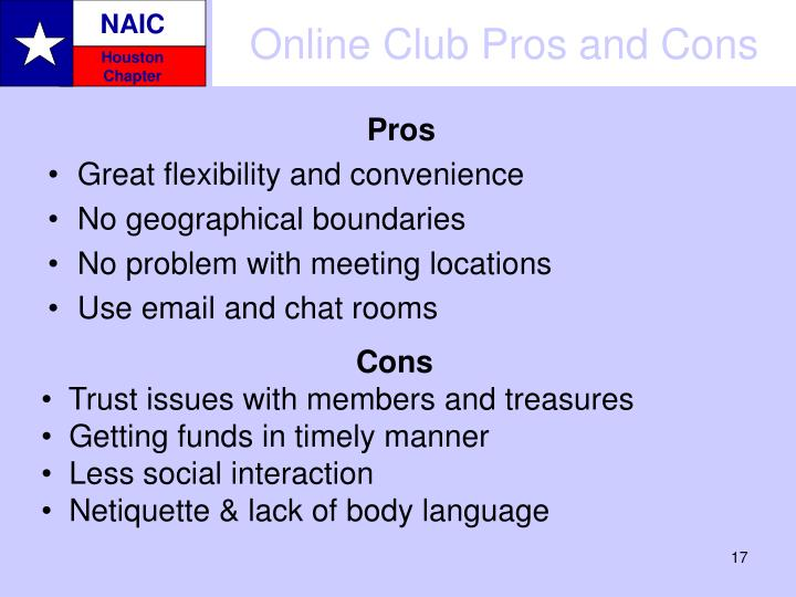 Online Club Pros and Cons