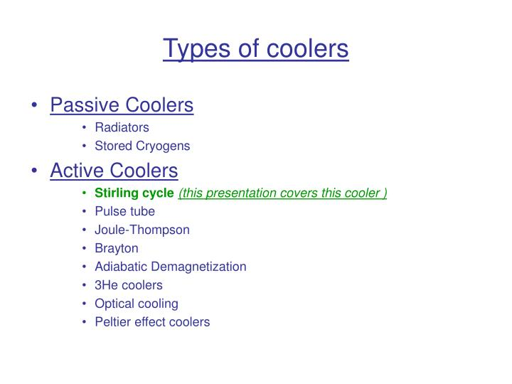 Types of coolers