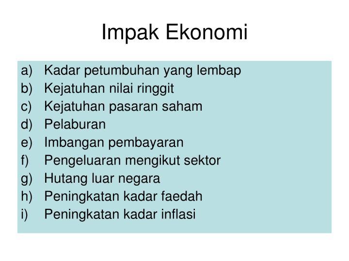 Impak Ekonomi