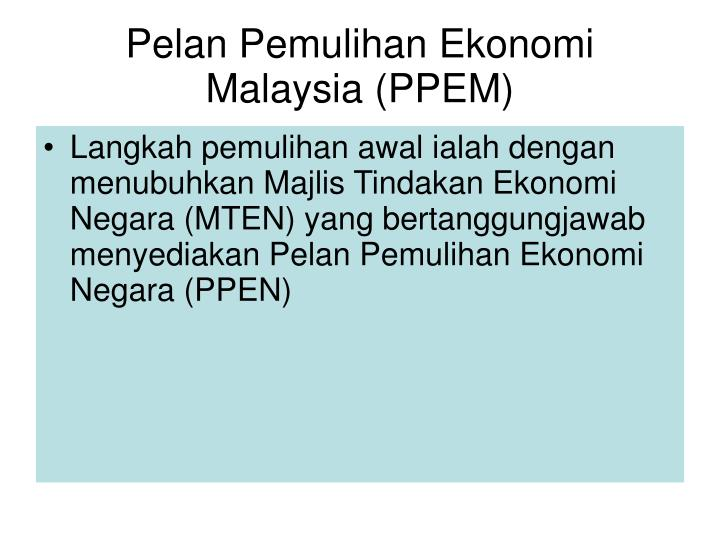 Pelan Pemulihan Ekonomi Malaysia (PPEM)
