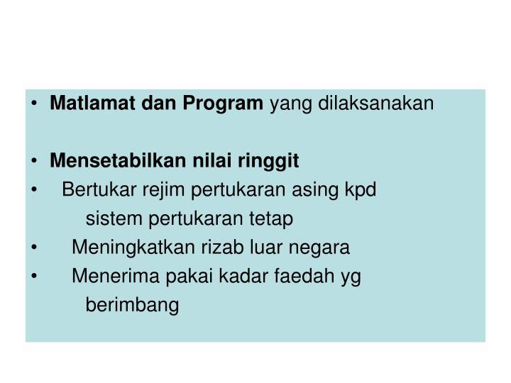 Matlamat dan Program