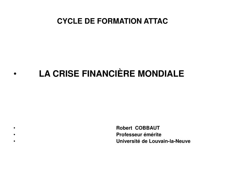 Cycle de formation attac