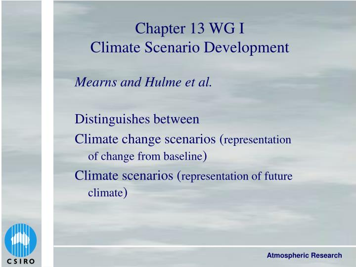 Chapter 13 WG I