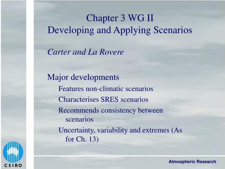 Chapter 3 WG II