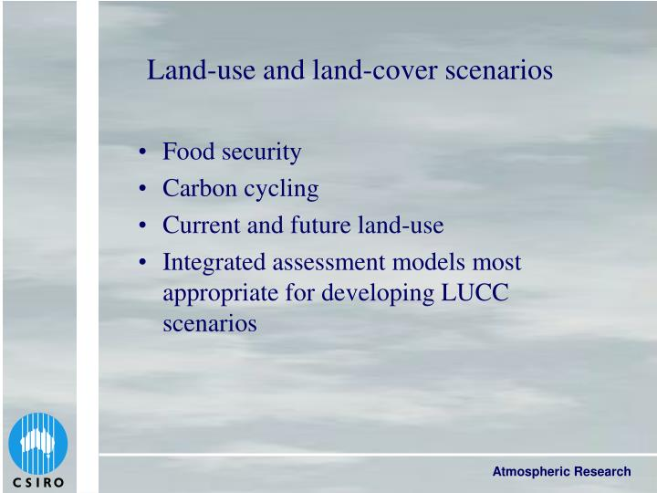 Land-use and land-cover scenarios
