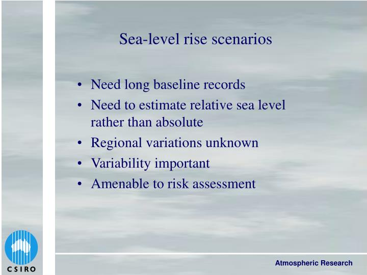 Sea-level rise scenarios