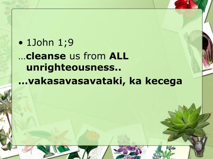 1John 1;9