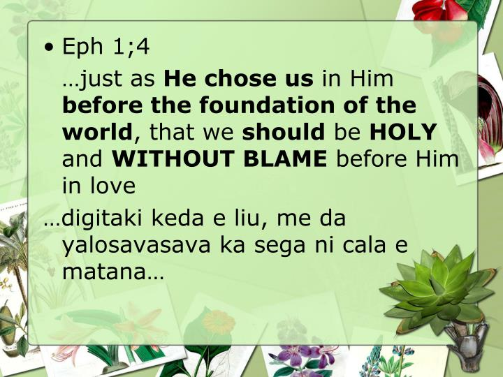 Eph 1;4
