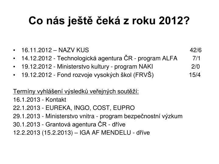 Co nás ještě čeká z roku 2012?