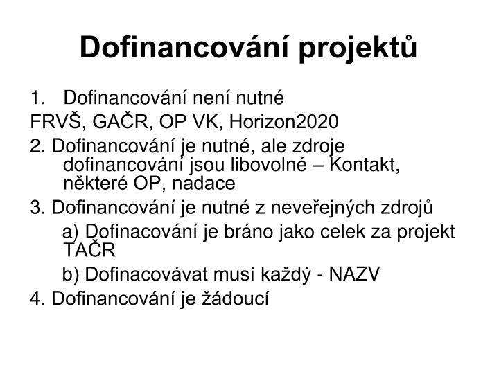 Dofinancování projektů