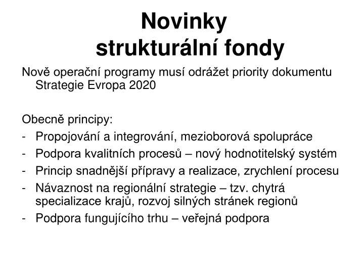 Novinky       strukturální fondy