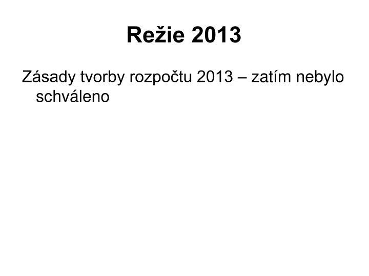 Režie 2013