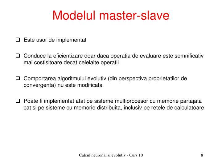 Modelul master-slave