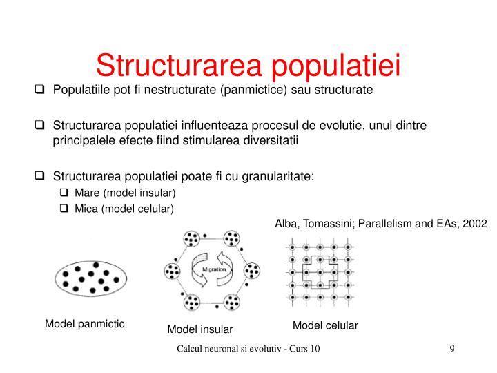 Structurarea populatiei
