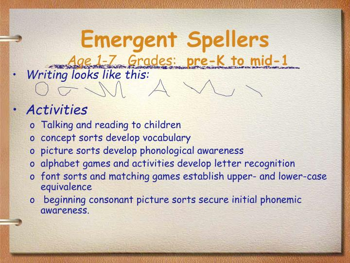 Emergent Spellers