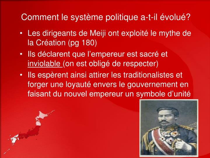 Comment le système politique a-t-il évolué?