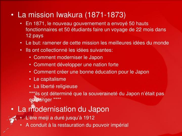 La mission Iwakura (1871-1873)