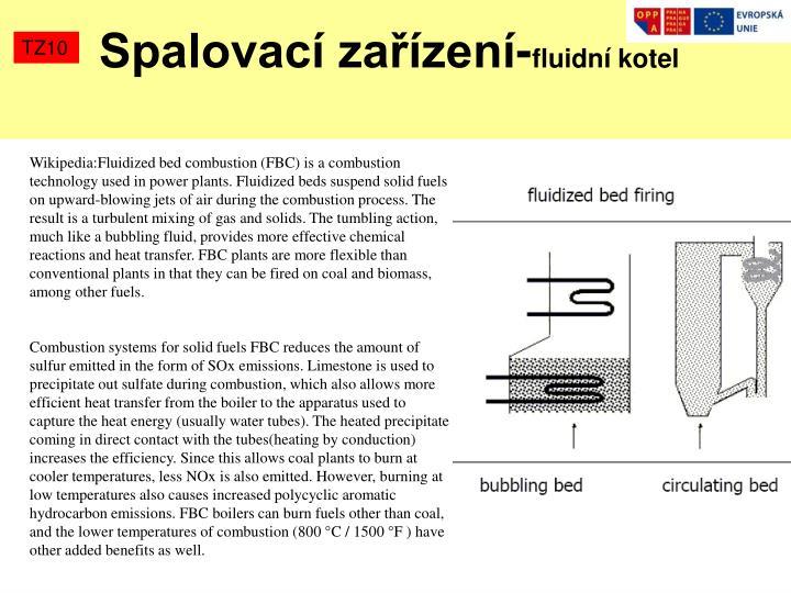 Spalovací zařízení-