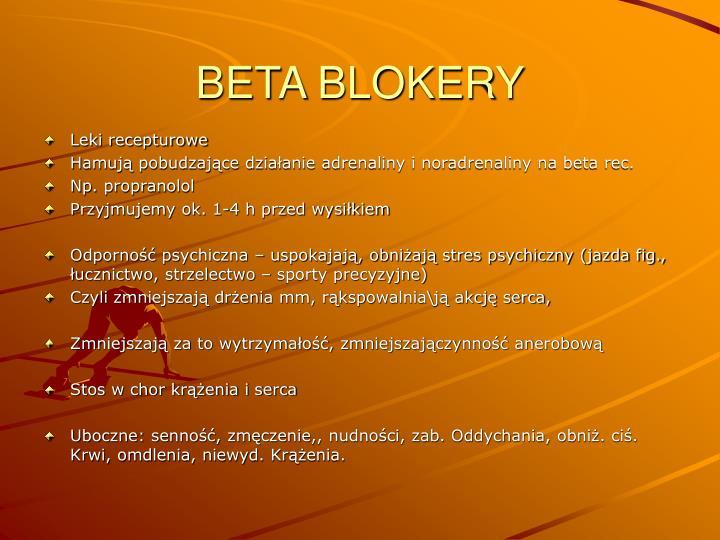 BETA BLOKERY