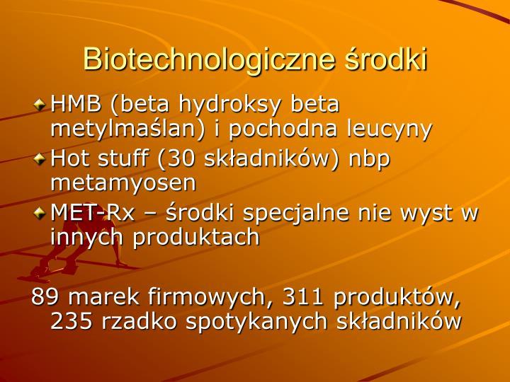 Biotechnologiczne środki