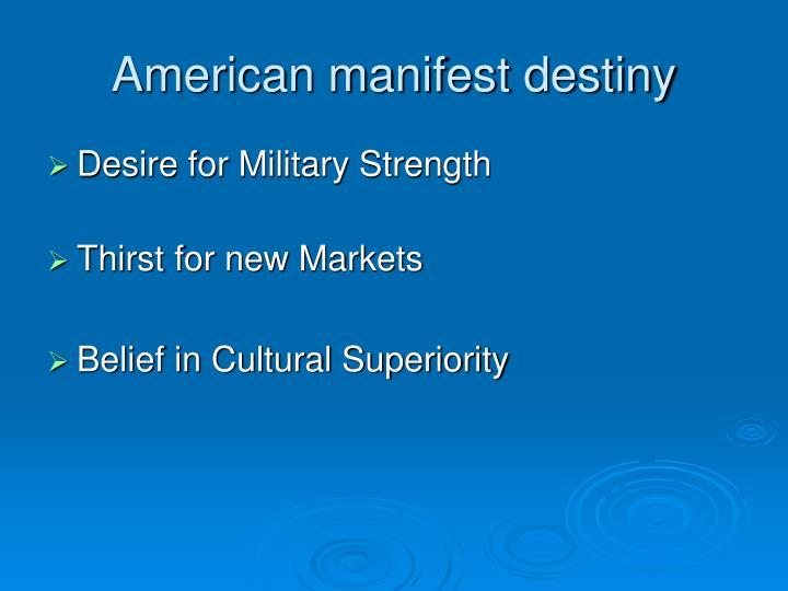 American manifest destiny