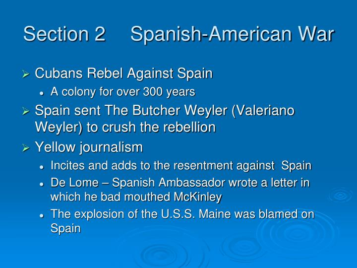 Section 2Spanish-American War