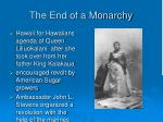 the end of a monarchy