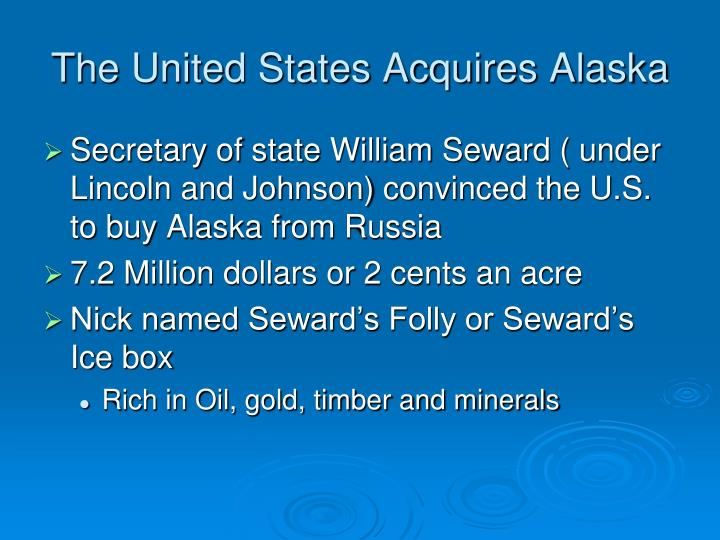 The United States Acquires Alaska