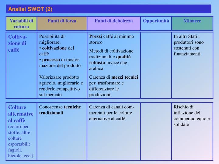 Analisi SWOT (2)