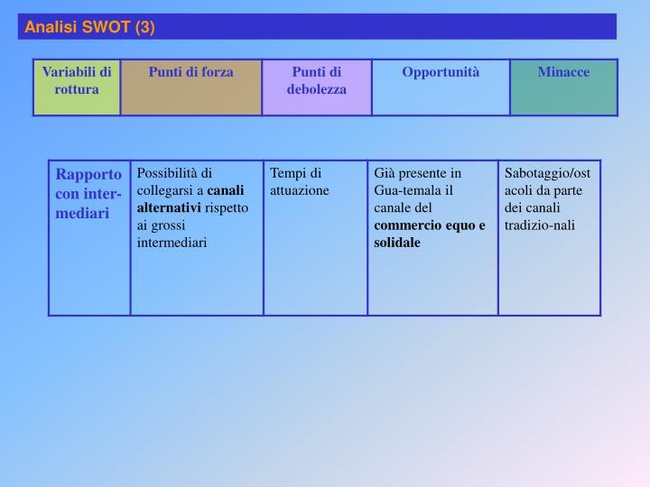 Analisi SWOT (3)