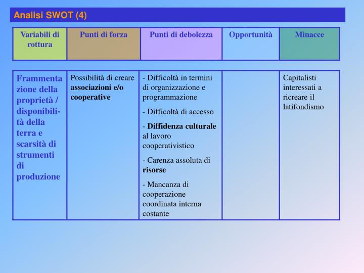 Analisi SWOT (4)