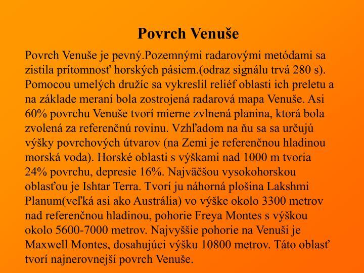 Povrch Venuše