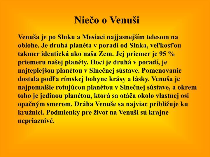 Niečo o Venuši