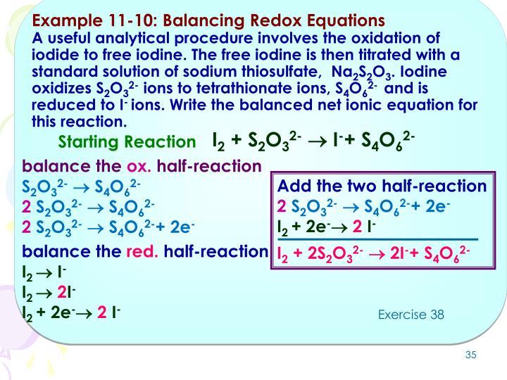 Example 11-10: Balancing Redox Equations
