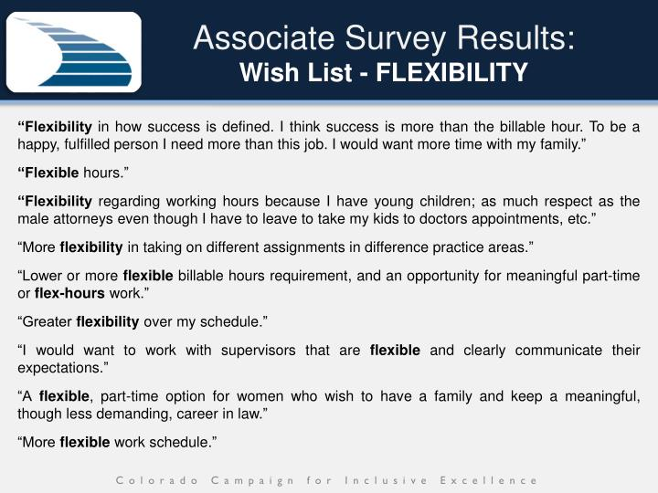 Associate Survey Results: