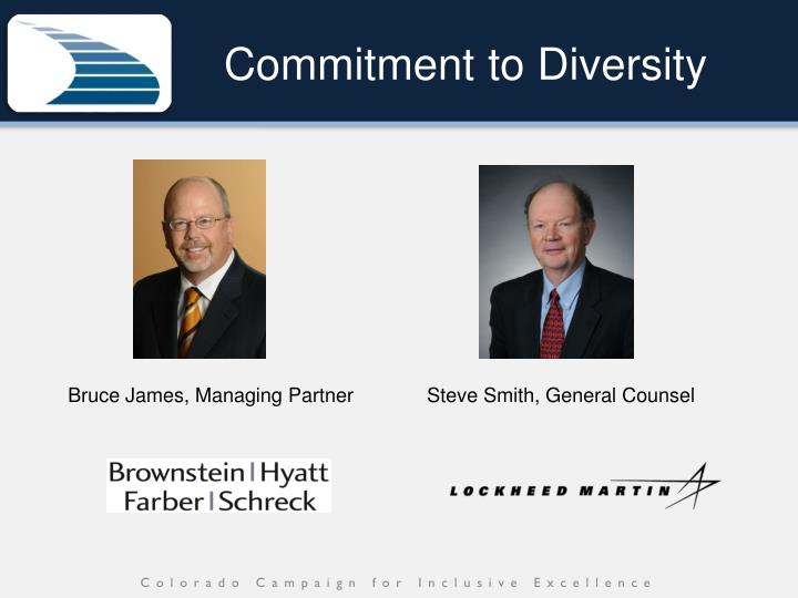 Commitment to diversity