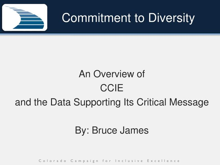Commitment to diversity1