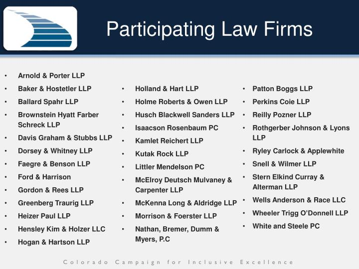 Participating Law Firms