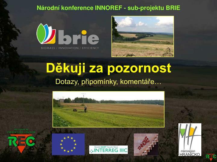 Národní konference INNOREF - sub-projektu BRIE