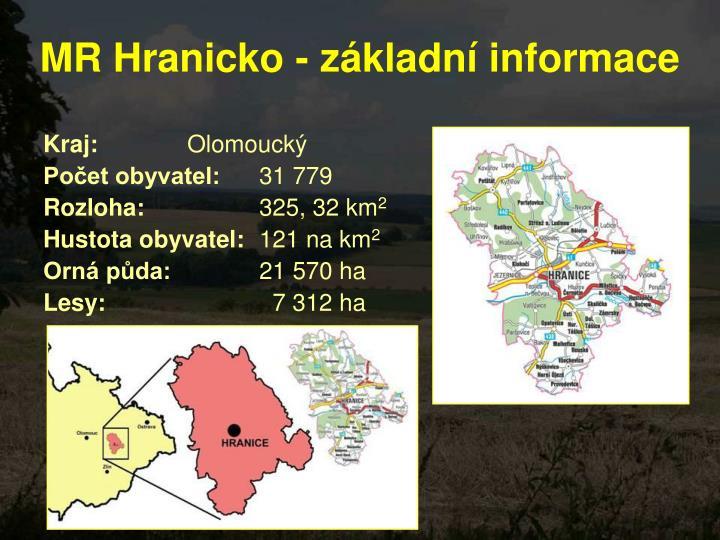 MR Hranicko - základní informace