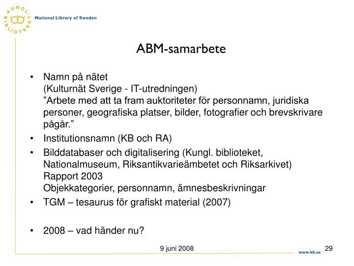 ABM-samarbete