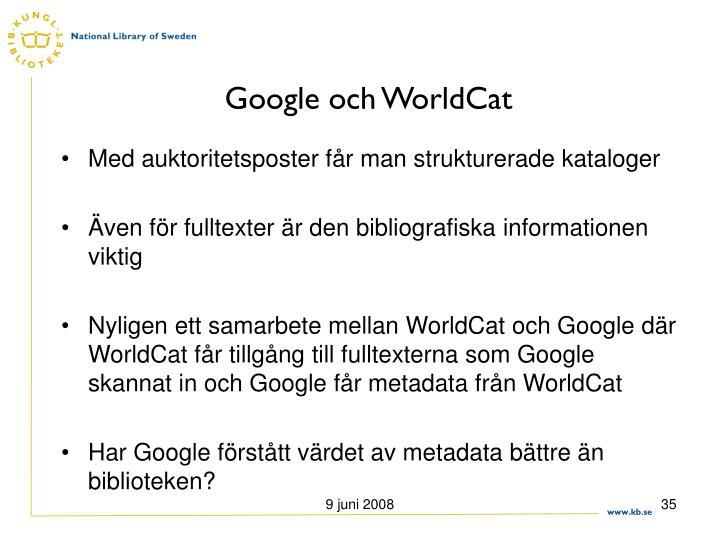 Google och WorldCat