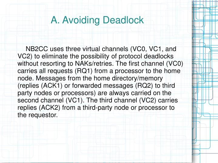 A. Avoiding Deadlock